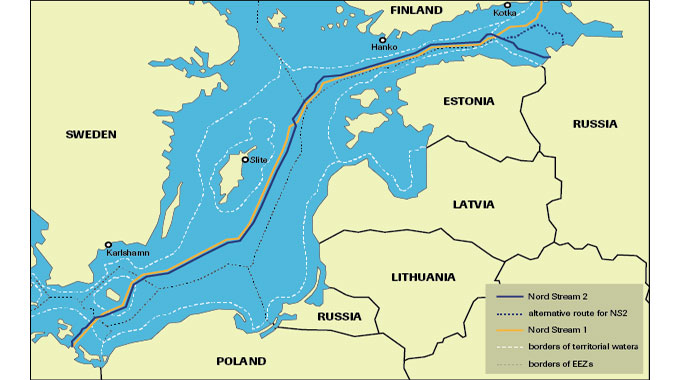 Nord Stream 2 Karte.Danemark Sperrt Sein Territorium Fur Nord Stream 2 Sh