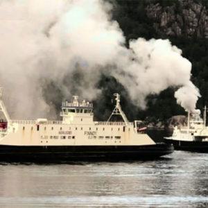 Feuer auf norwegischer Autofähre – 54 Menschen evakuiert