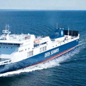 """Ostsee-Fähre """"Regina Seaways"""" am Dienstagabend in Klaipeda eingelaufen"""