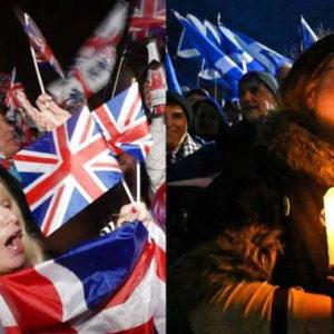 """Jubel in London: """"Wir sind raus!"""" und Trauer in Edinburgh und: """"Wir kommen wieder!"""""""