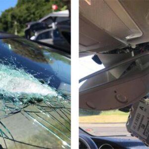 Nur 10 von 116 Steinwürfen trafen schwedische Autos